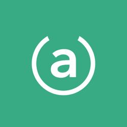 Logo white on green