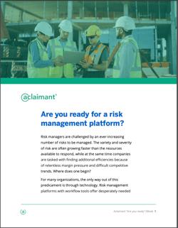 Risk Management Platform eBook Cover Page